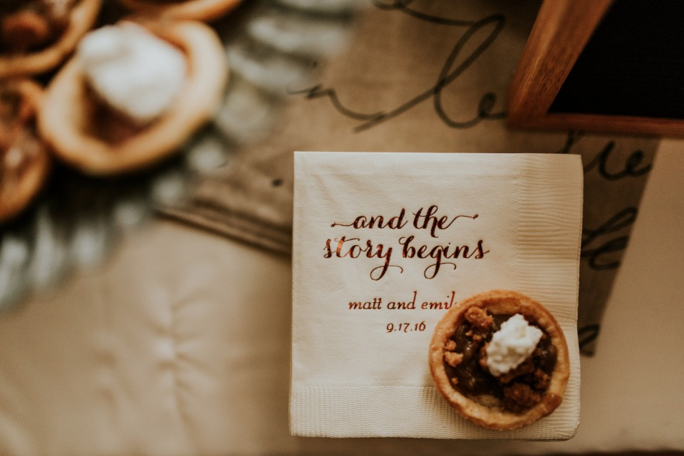 Custom dessert table napkins