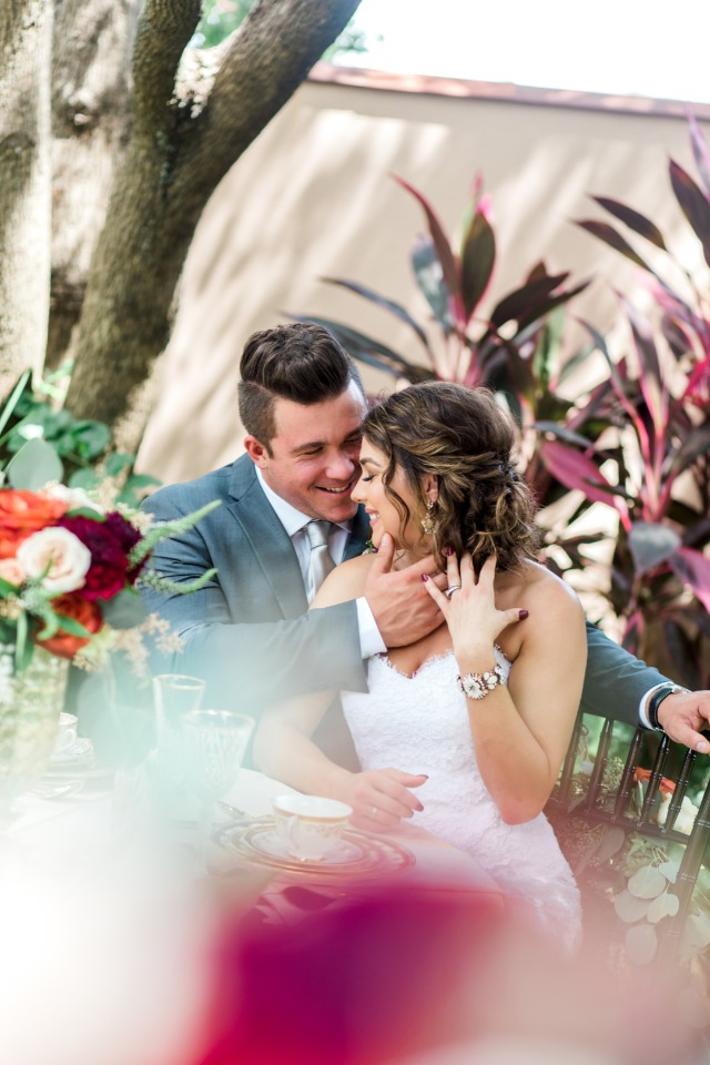 candid bride and groom photo