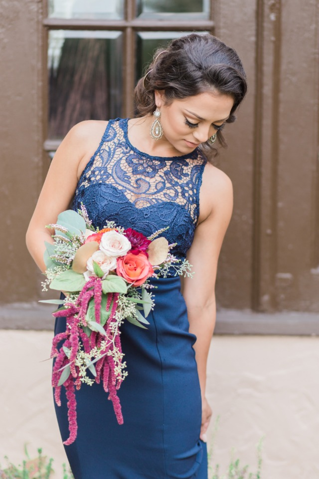 bridesmaid in royal blue dress