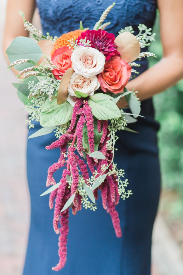 jewel tone bridesmaid bouquet