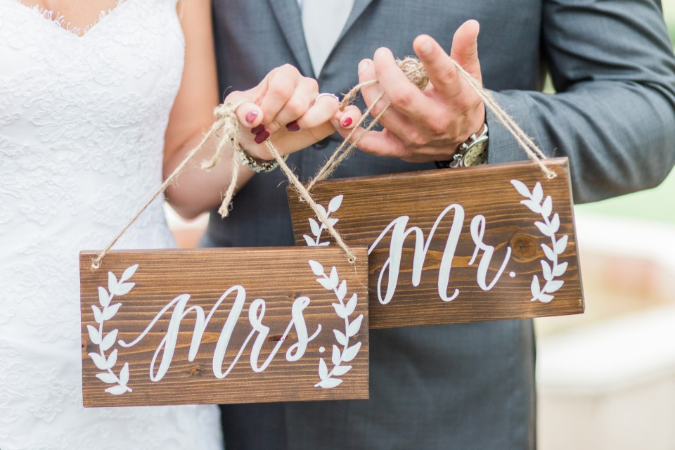mr and mrs wooden signs