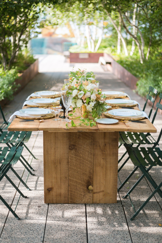 reclaimed wood sustainable wedding rentals