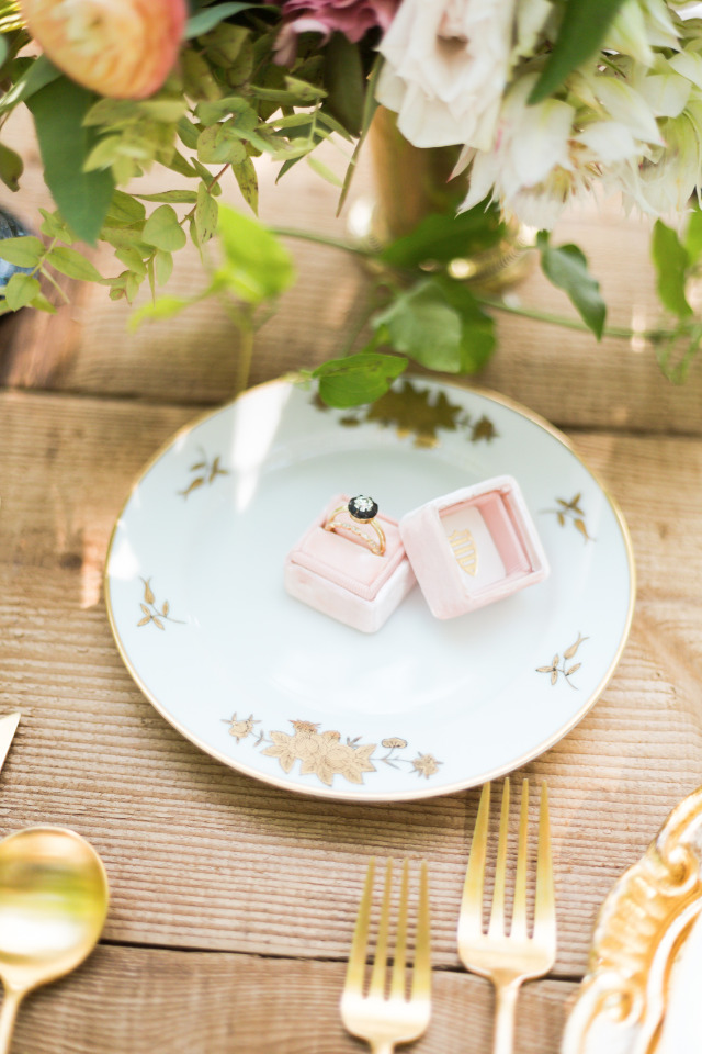 pink mrs box and ethically sourced ring