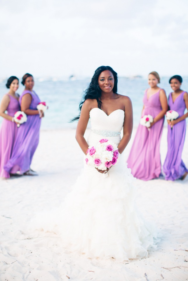 purple tulle bridesmaid dresses