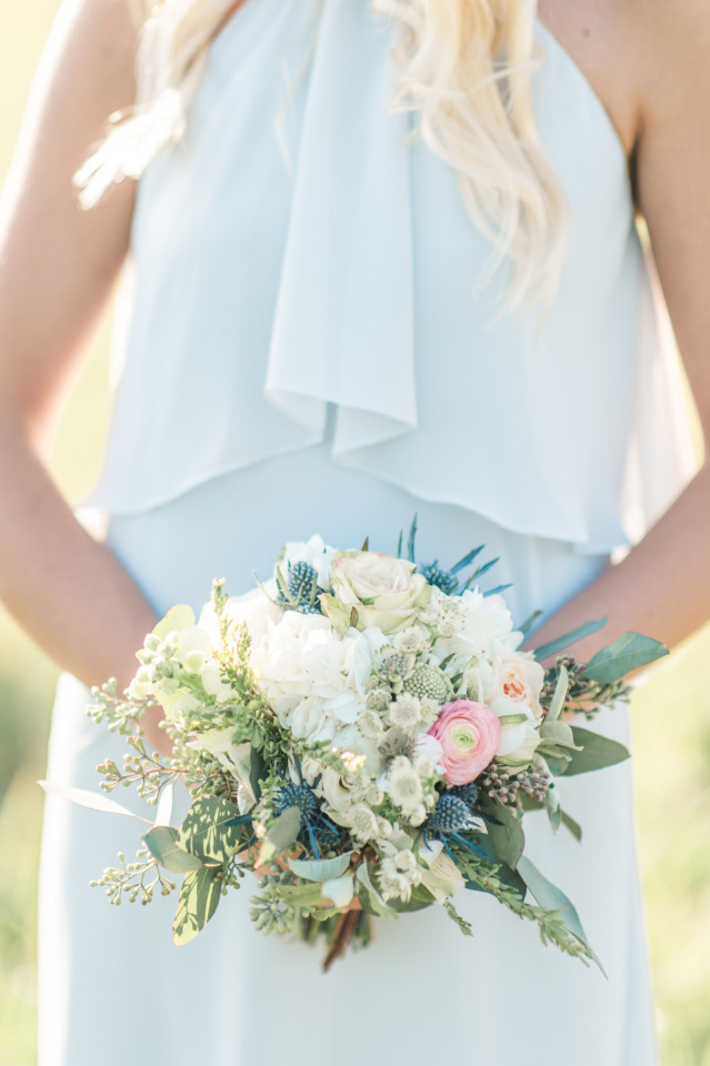 Chic bridesmaid bouquet