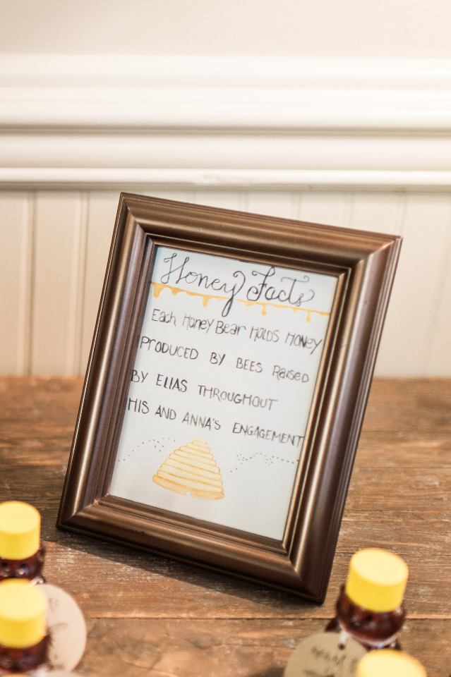 Homemade honey wedding favors