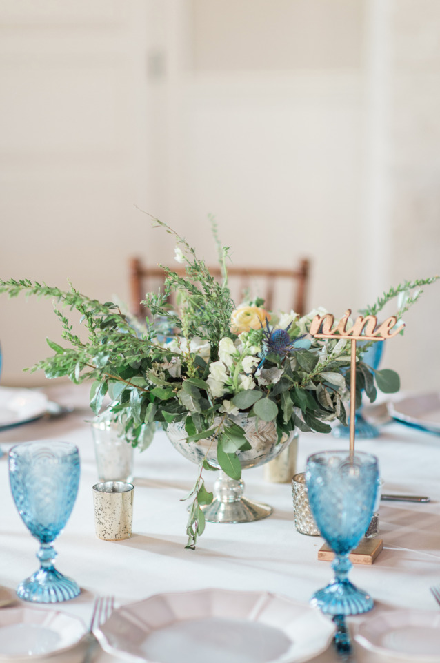 Low floral centerpiece