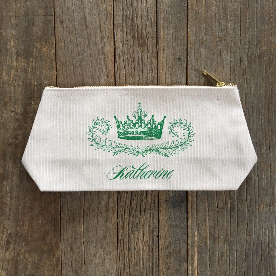 crown cosmetic pouch