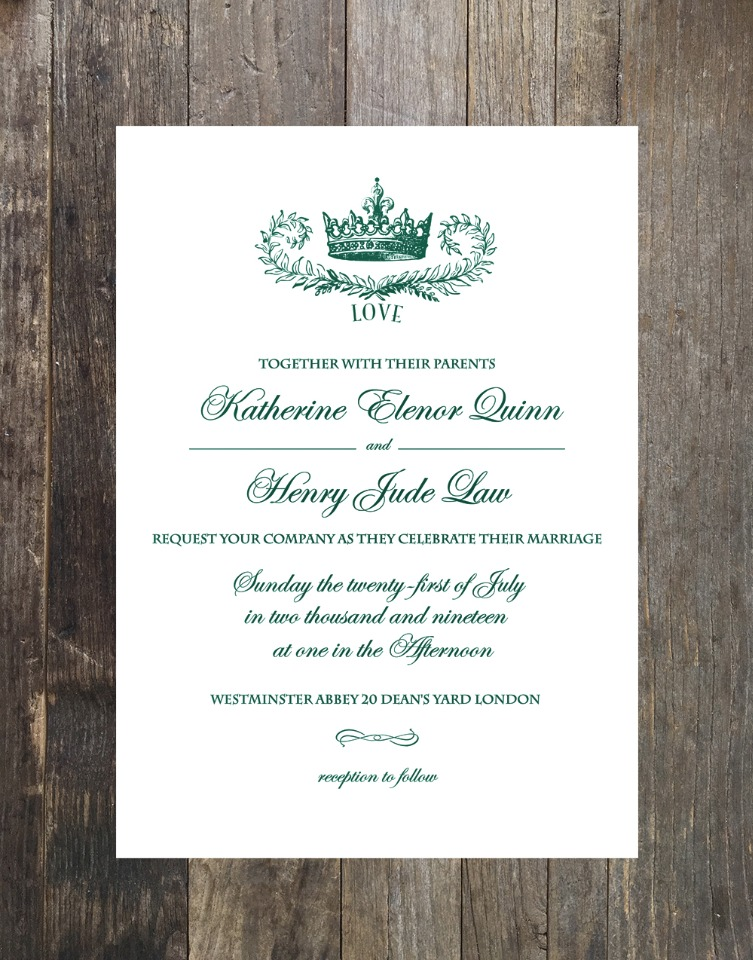 crown free printable wedding suite