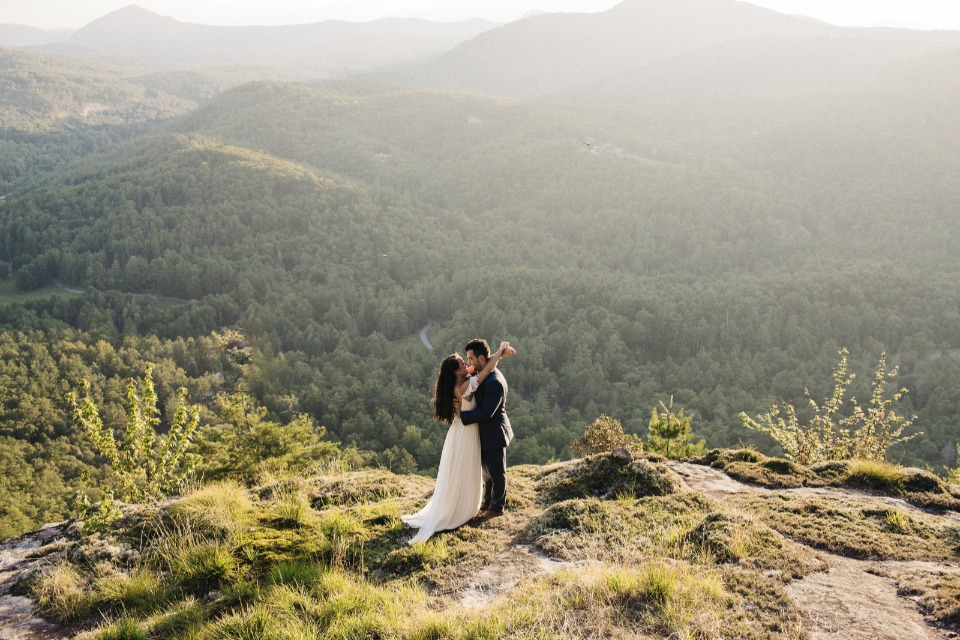 mountain top wedding shoot