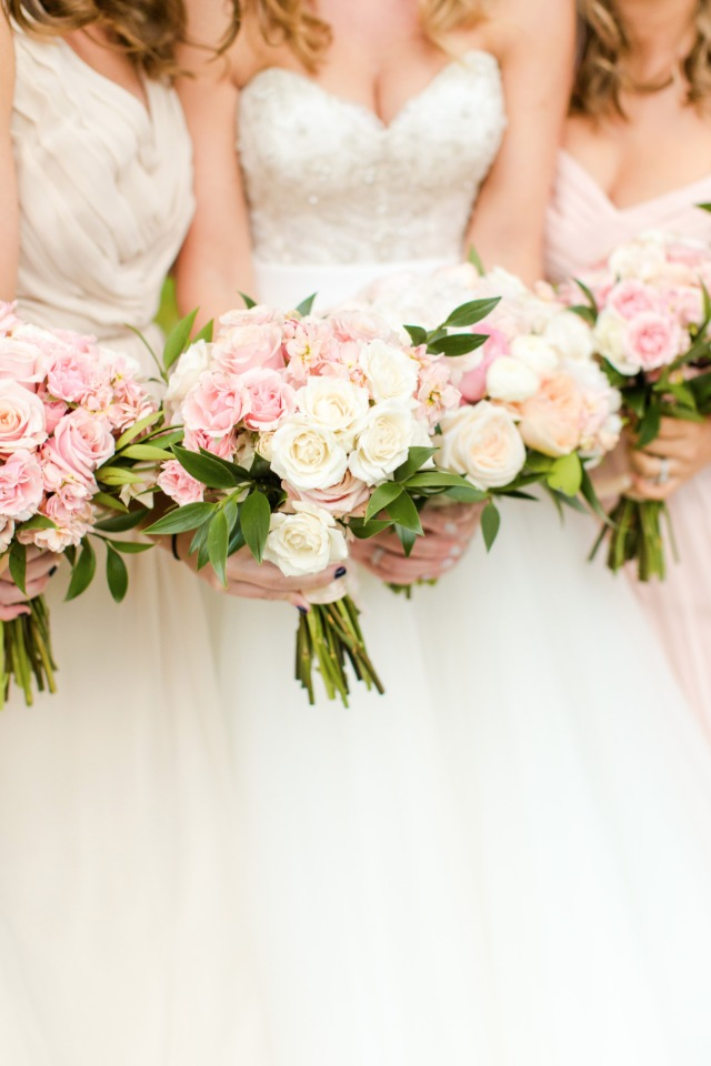 Blush rose bouquets