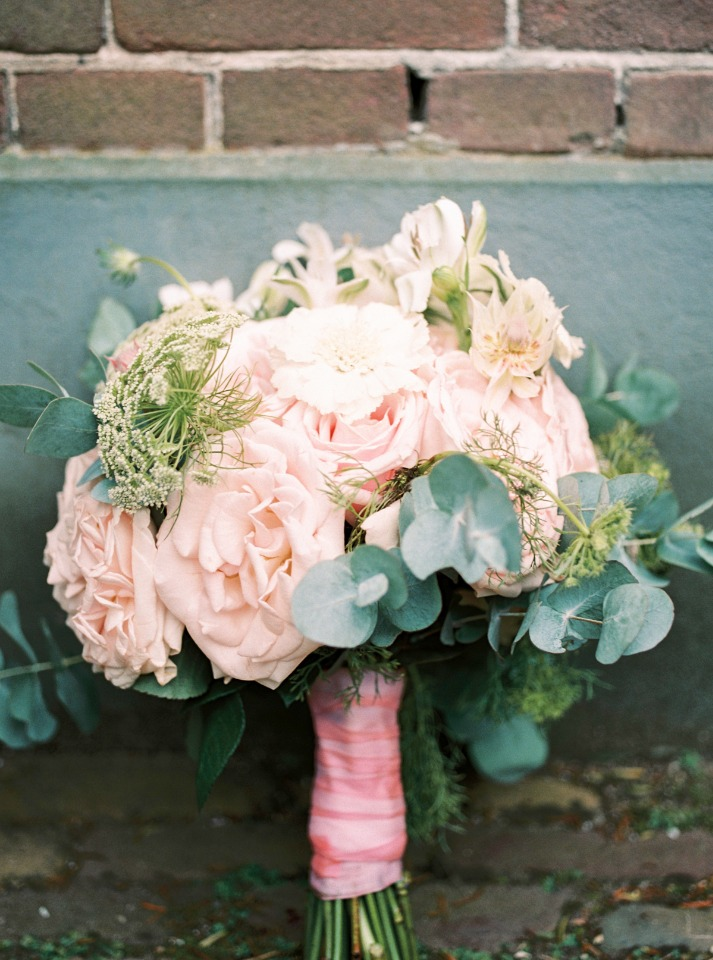 soft pink and romantic bouquet