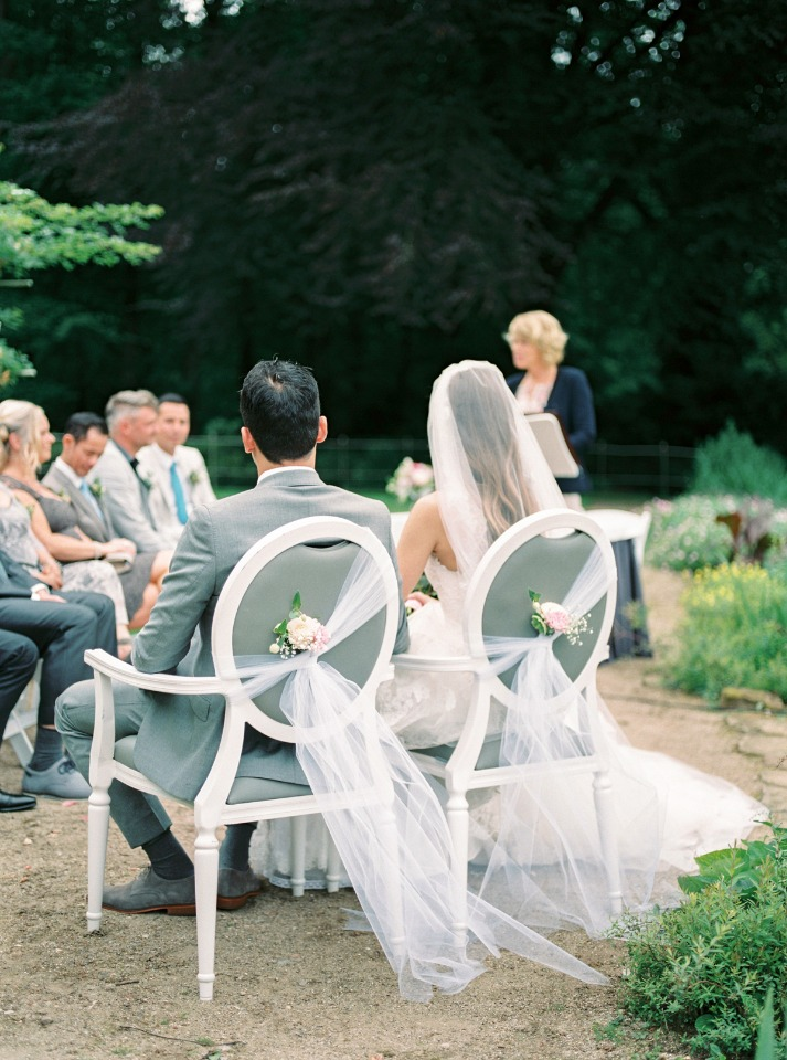 wedding seats for the bride and groom