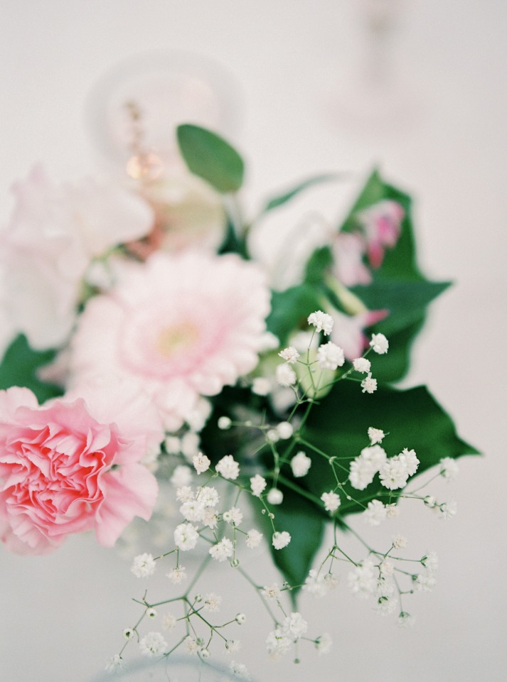 soft pink mini centerpieces