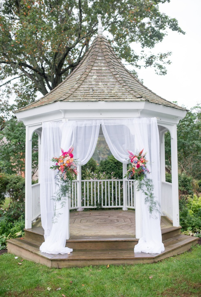 Pretty outdoor gazebo wedding