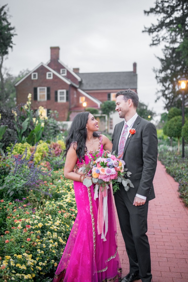 Traditional pink reception dress
