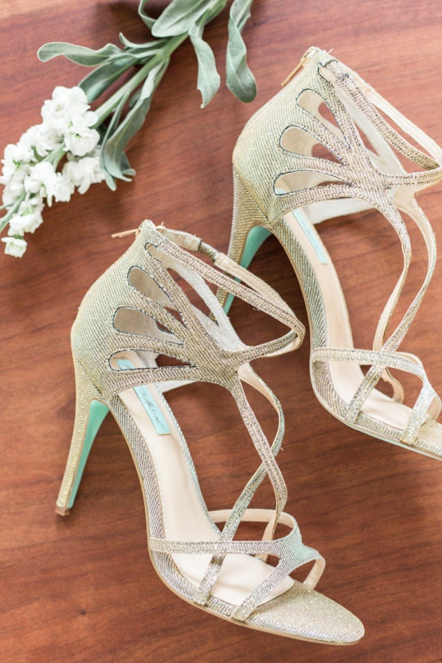 cute strappy vintage wedding shoes