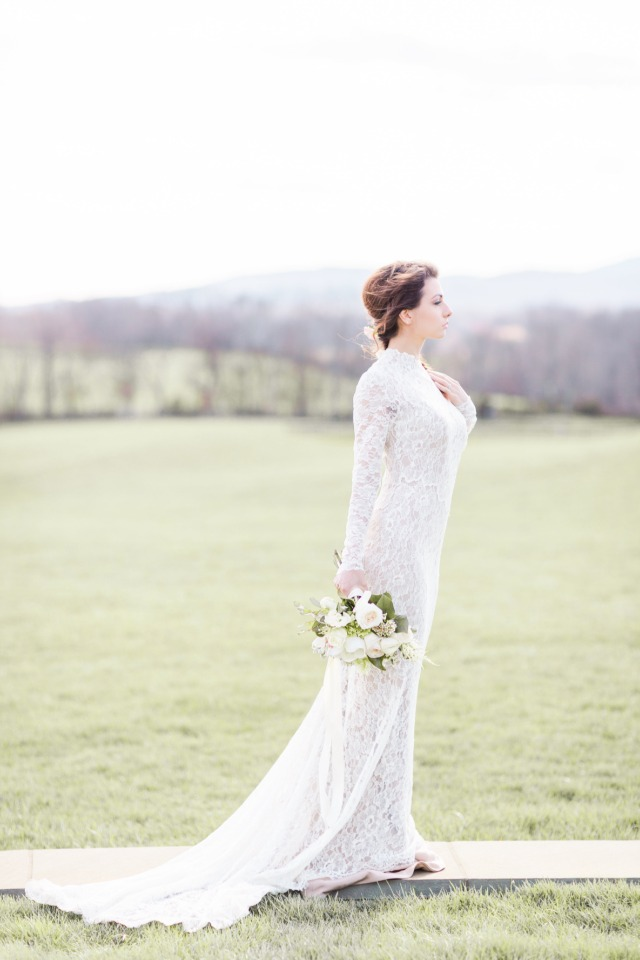 form hugging wedding dress with a vintage style