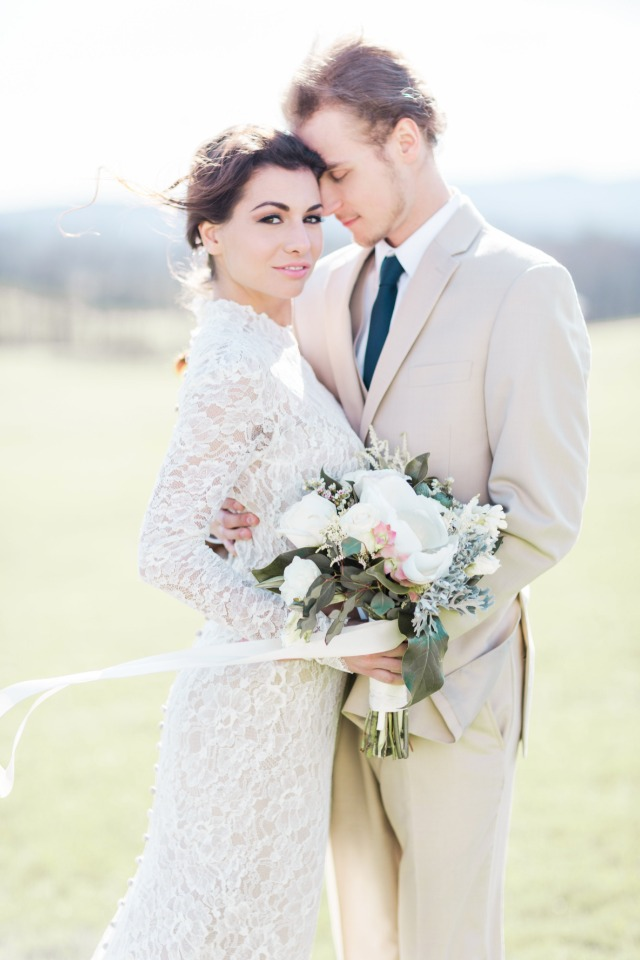 neutral bride and groom style