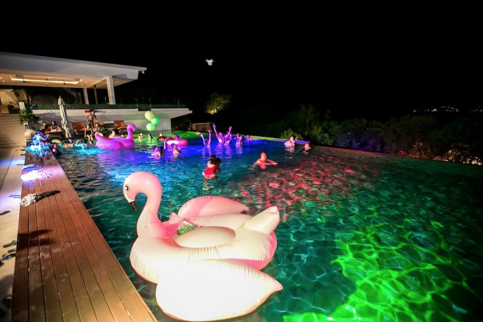 infinity pool after party