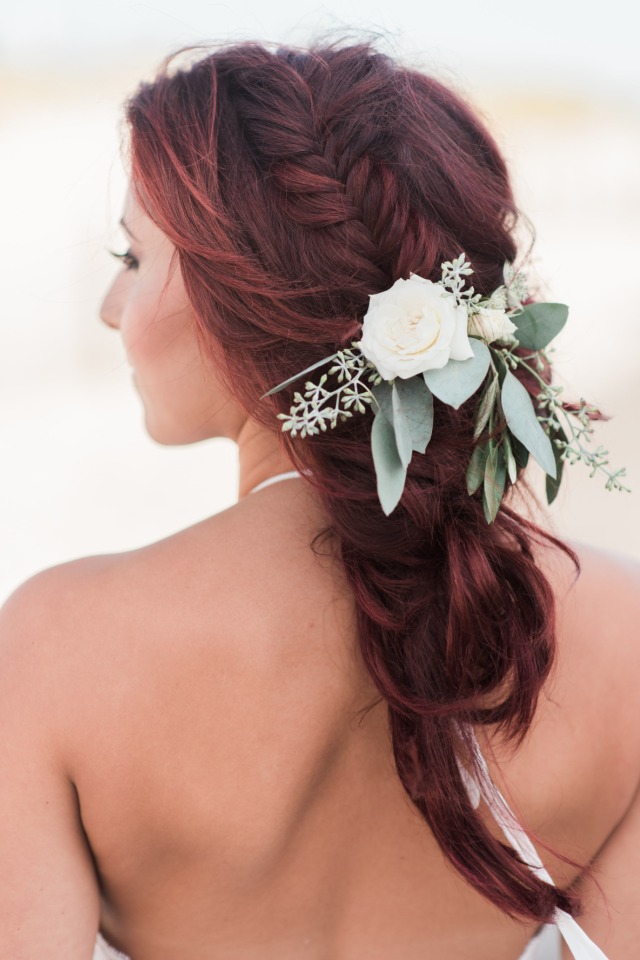 Natural braided bridesmaids hair