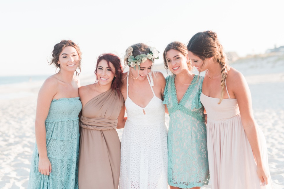 Beach wedding fashion