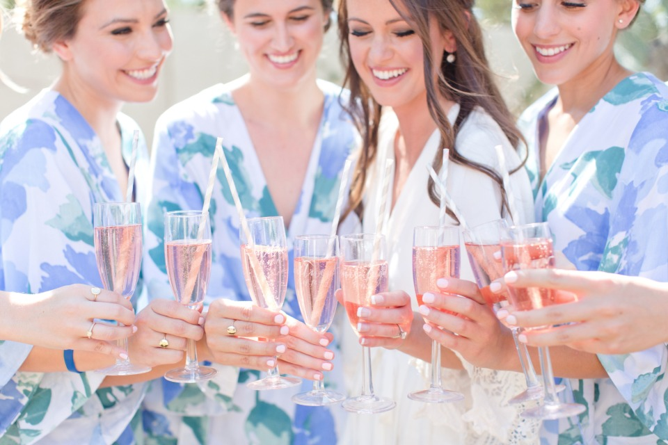 Getting ready bridesmaids