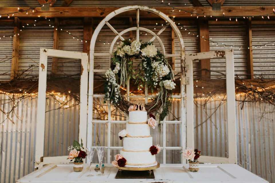 shabby chic cake table display