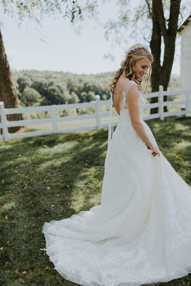 elegant wedding dress from Chantilly Lace Bridal