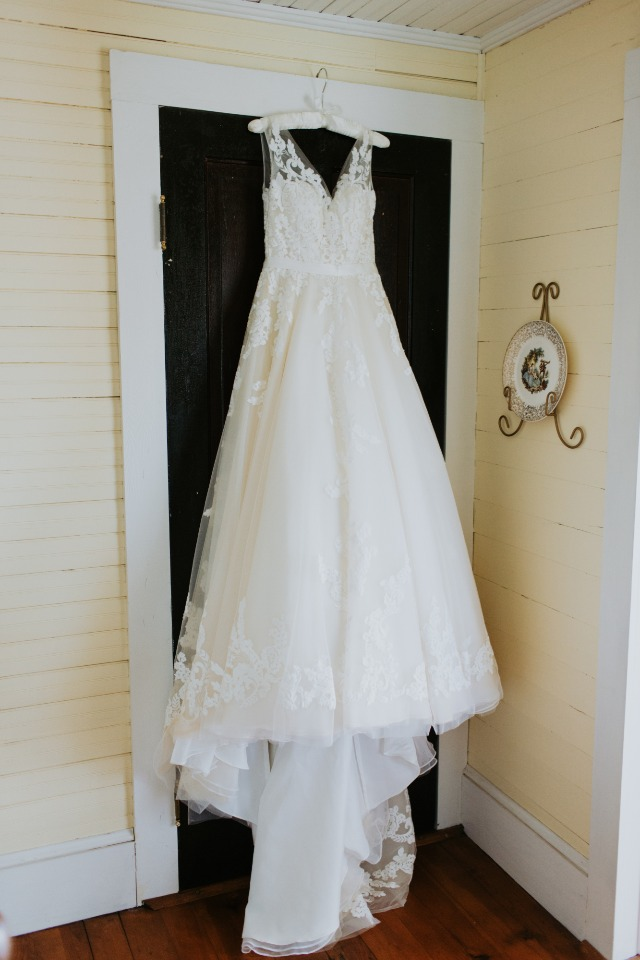 wedding dress from Chantilly Lace Bridal
