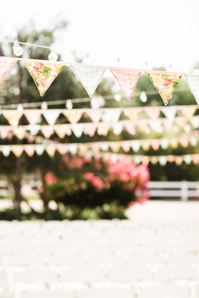 Hang flags at your wedding