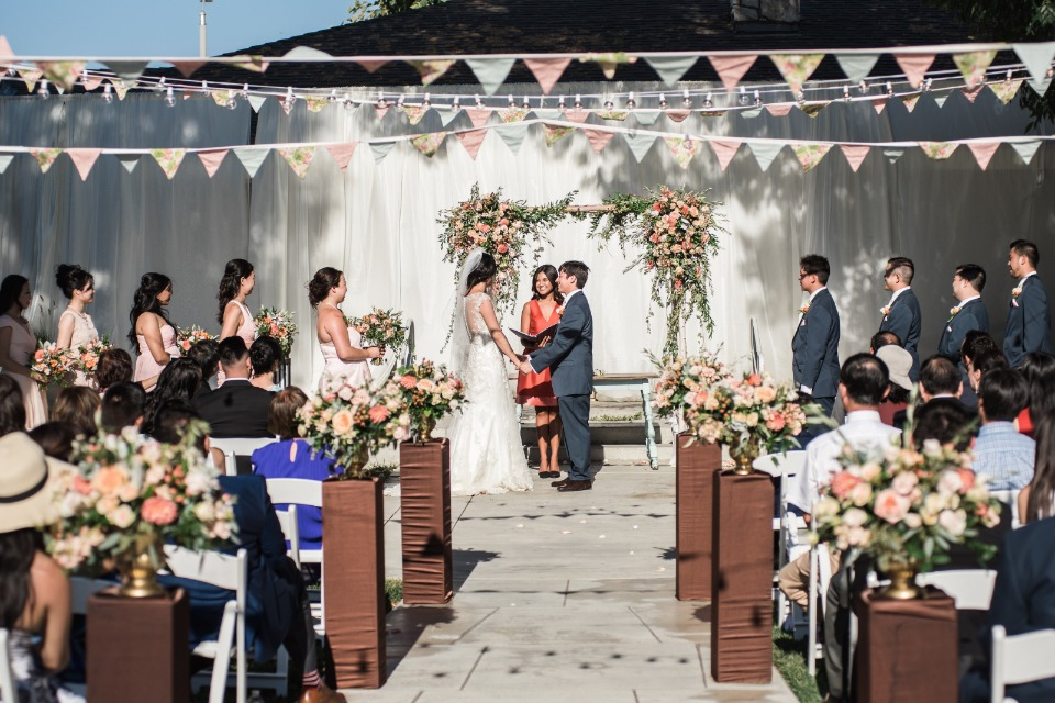Colorful and fun outdoor ceremony