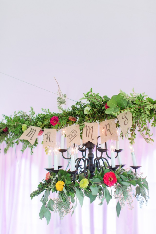 mr and mrs bunting and garland