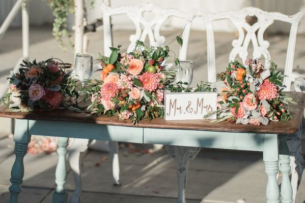 Unique Freshly Picked Farmers Market Inspired Garden Wedding