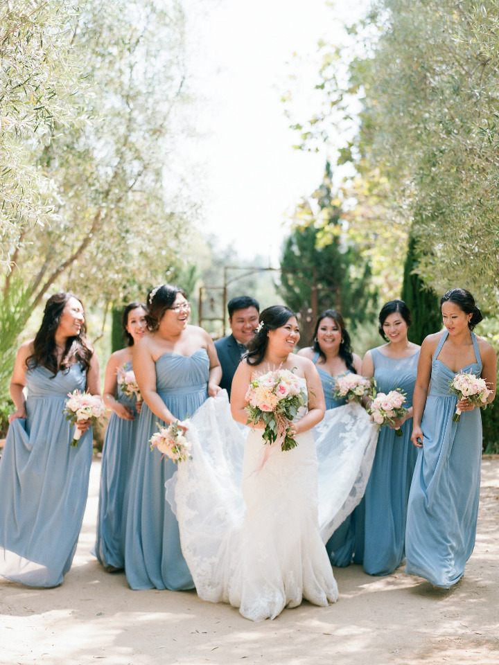 blue bridesmaid dresses for your something blue