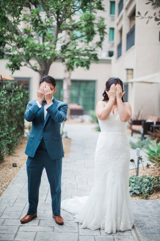 fun couple wedding photo