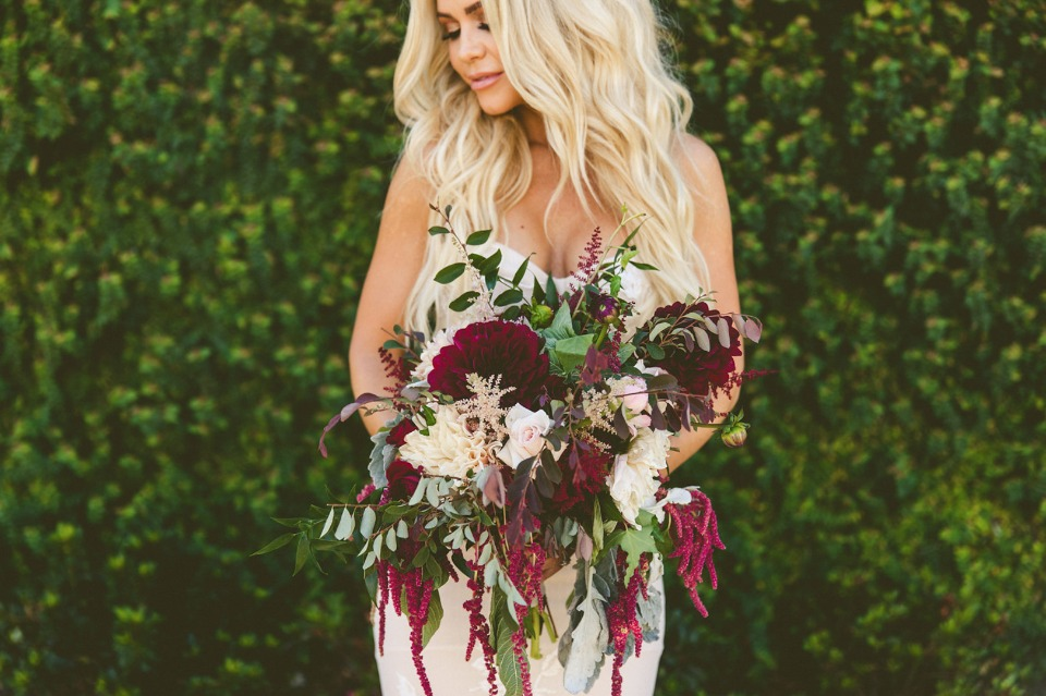romantic maroon bouquet