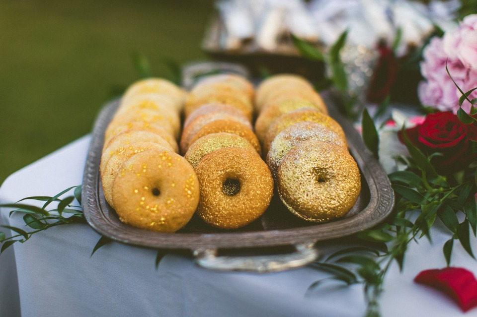 gold glitter wedding donuts