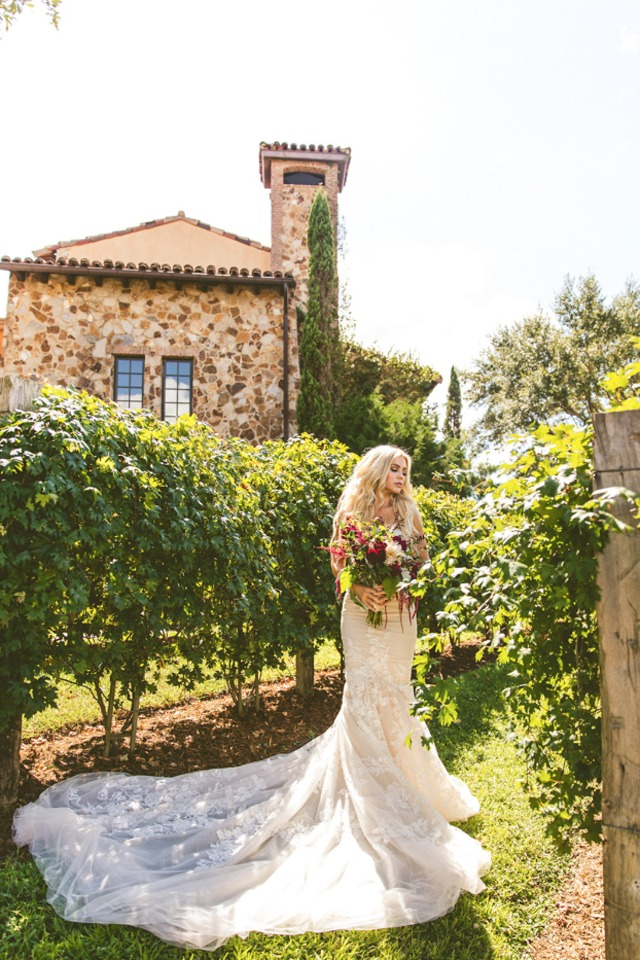 romantic vineyard wedding photo ideas