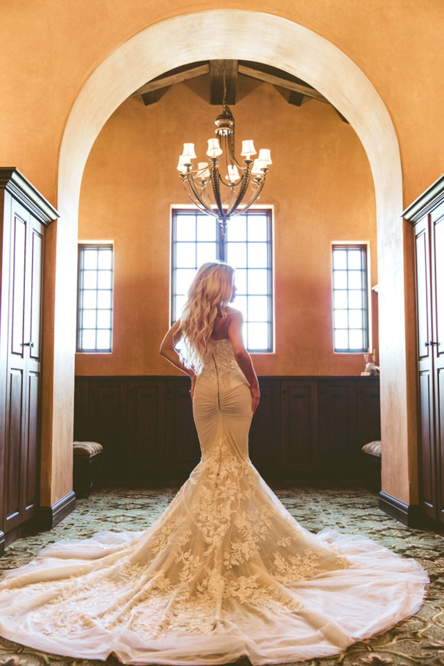 curve hugging wedding gown from Blush Bridal Sarasota