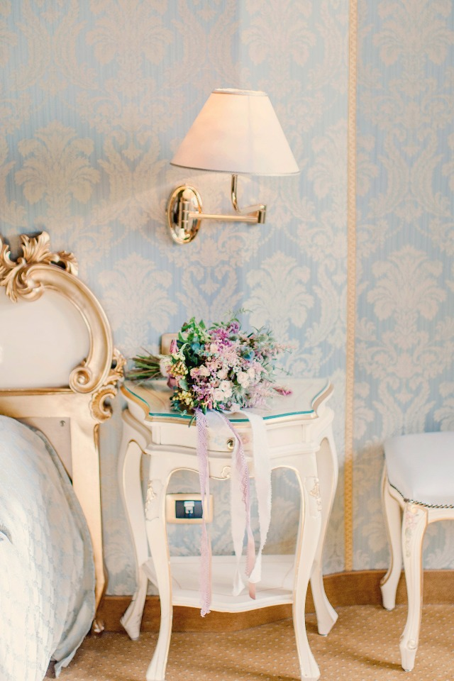 gilded baroque wedding room