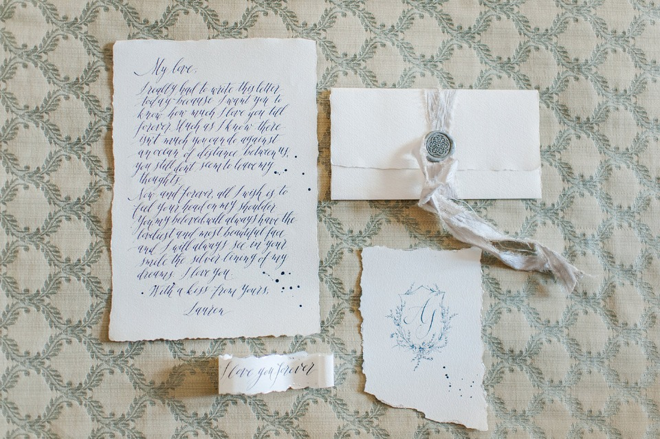 romantic love note calligraphy vows