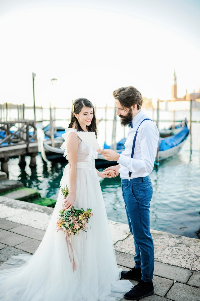 "saying ""i do"" in Venice Italy"