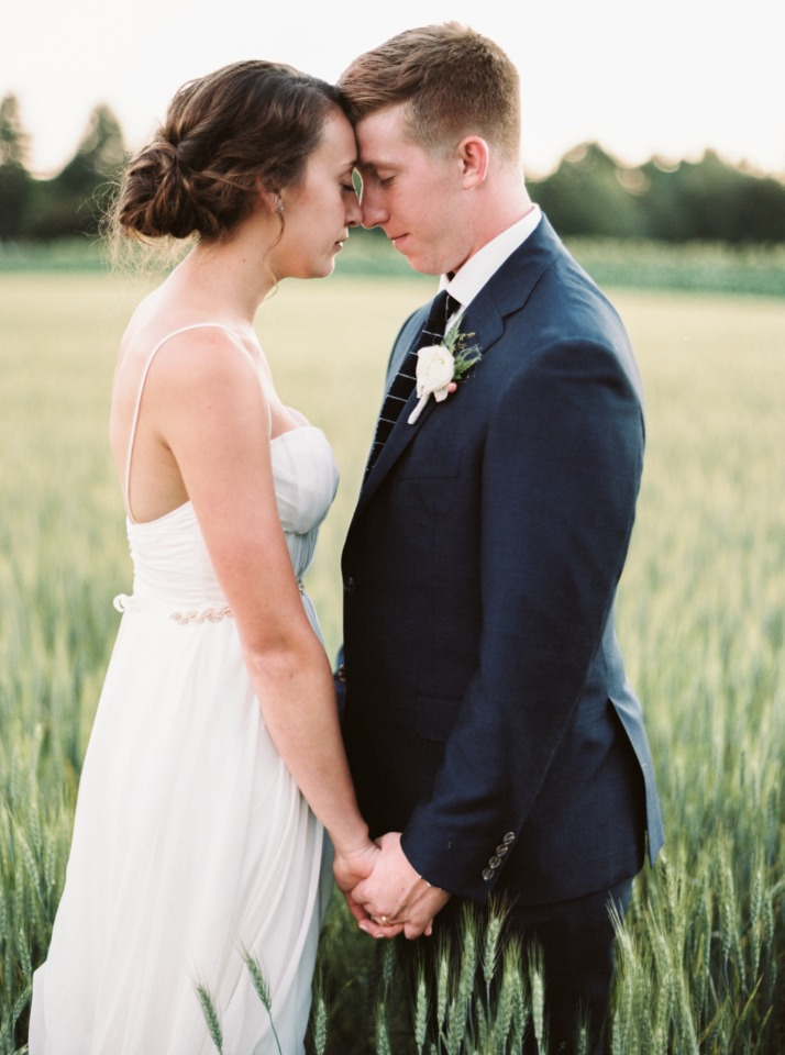 Beautiful bride and groom portrait