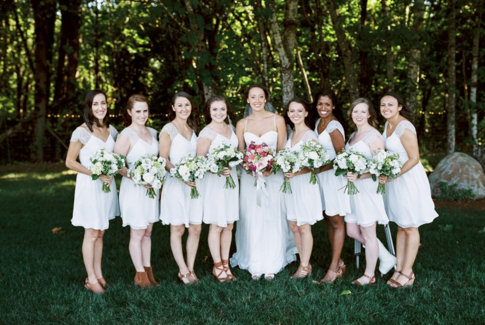 Little white bridesmaid dresses