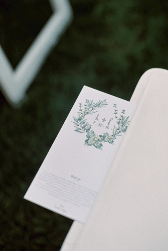 Wedding program idea