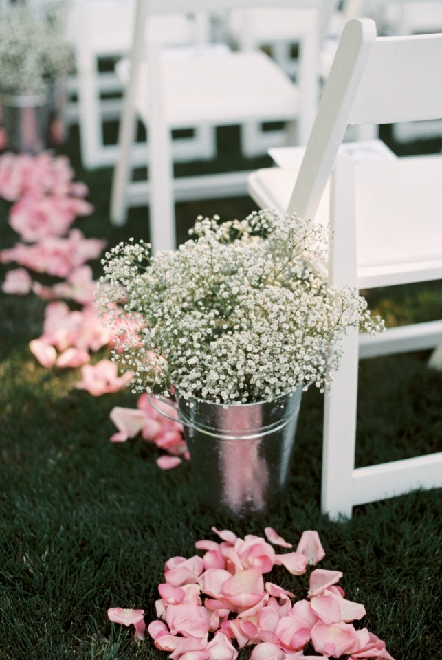 Buckets of babys breath