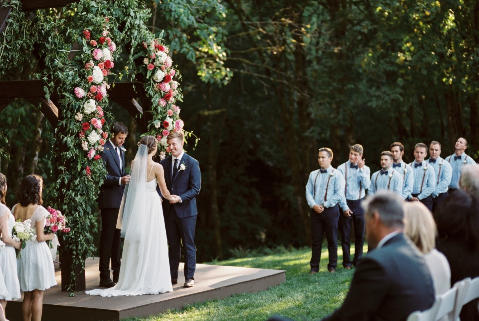 Beautiful and chic outdoor wedding