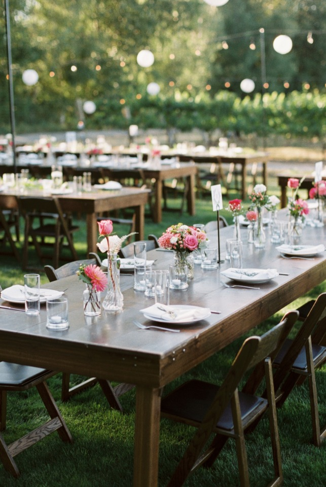 Elegant and chic outdoor wedding