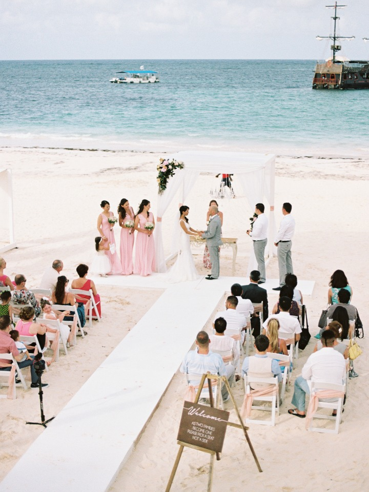 """saying """"I do"""" on the beach in Punta Cana"""